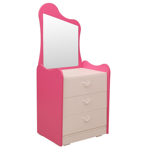 cupcake dressing table in barbie pink frosty white colour by rawat cupcake dressing table