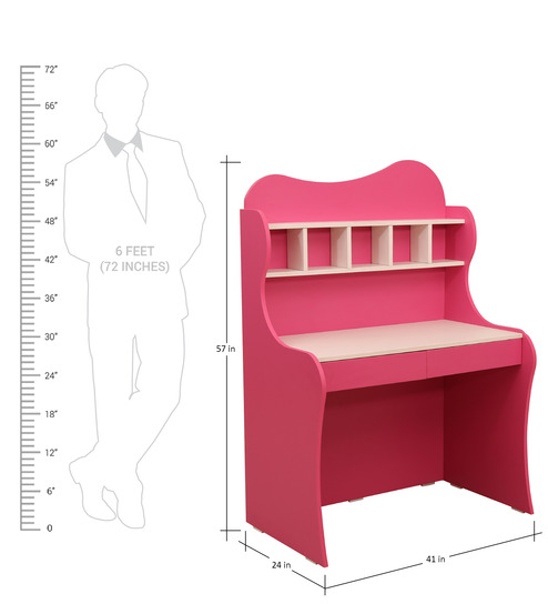 ... Cupcake Study Table In Barbie Pink Frosty White Colour By Rawat Cupcake Study  Table In Barbie ...