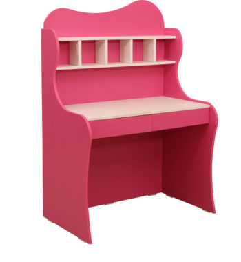 cupcake study table in barbie pink frosty white colour by rawat cupcake study table in barbie pink