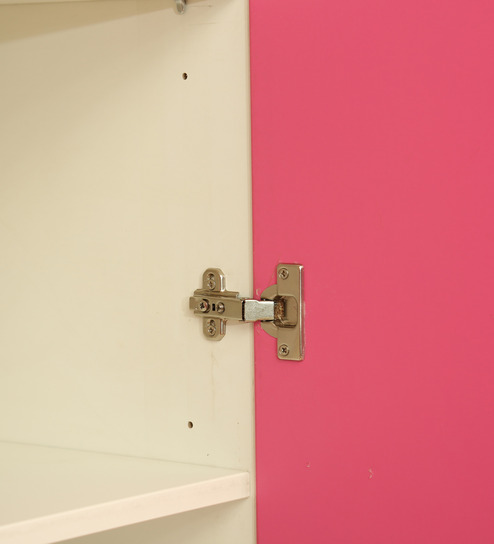 upcake three door wardrobe in barbie pink frosty white colour by rawat cupcake three door wardrob
