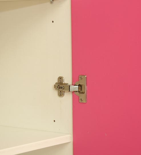 upcake three door wardrobe in barbie pink frosty white colour by rawat cupcake three door wardrob