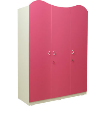 cupcake three door wardrobe in barbie pink frosty white colour by rawat cupcake three door wardrob
