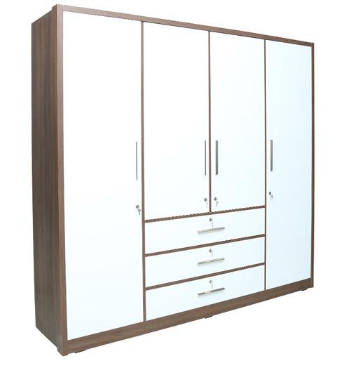 ... four door wardrobe by rawat four door wardrobe by rawat ...  sc 1 st  Rawat Furniture & Wardrobe Stores Near Me | 4 His-Her Wardrobe With MDF Doors | Rawat ...