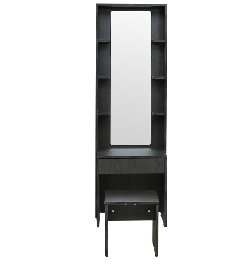 ... Geneva Dressing Table With Mirror Stool In Black Colour By Rawat Geneva  Dressing Table With Mirror ...