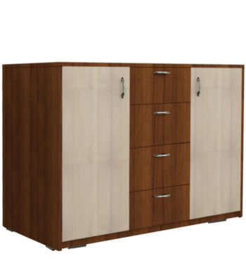 pack up cabinet unit in brown white colour by rawat pack up cabinet unit in brown white colour