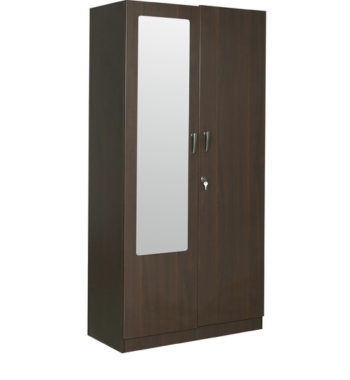 rawat lucerne two door wardrobe in brown colour by rawat lucerne two door wardrobe