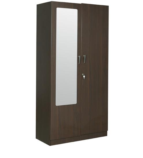 ... Rawat Lucerne Two Door Wardrobe In Brown Colour By Rawat Rawat Lucerne  Two Door Wardrobe In ...