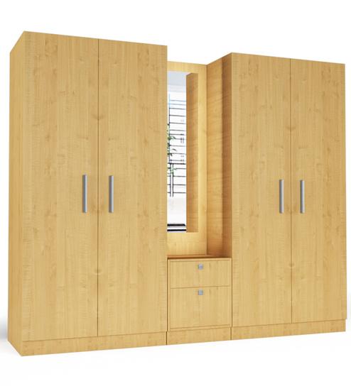 five door wardrobe in asian maple finish in plpb by primorati five door wardrobe