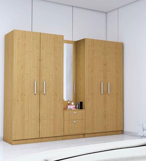 Five Door Wardrobe in Asian Maple Finish in PLPB