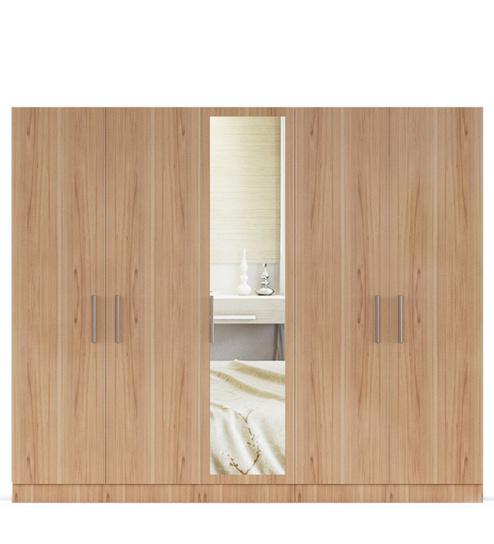 five door wardrobe in swiss elm bleached finish in mdf-by primorati five door wardrobe