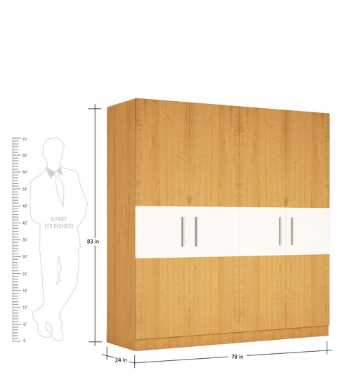 four door wardrobe in asian maple finish in marine ply by primorati four door wardrobe