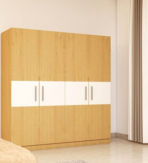... four door wardrobe in asian maple finish in marine ply by primorati four door wardrobe ... : ply doors - pezcame.com