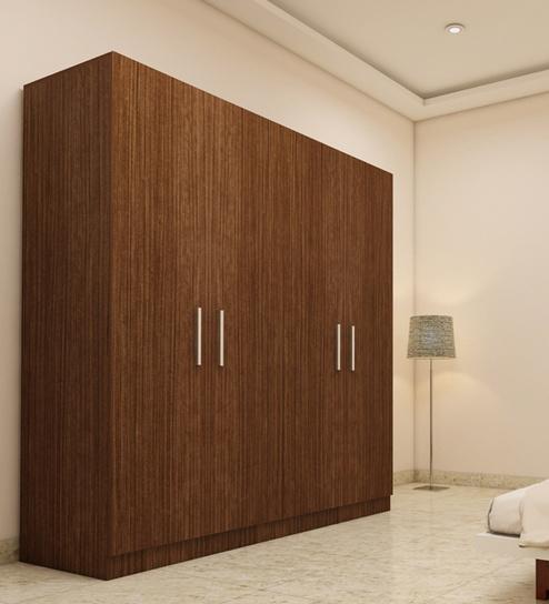 Wardrobe stores near me 4 doors wardrobe in viking teak for Wardrobe finishes