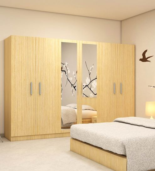 six door wardrobe in maldau acacia light finish in plpb by primorati six door wardrobe