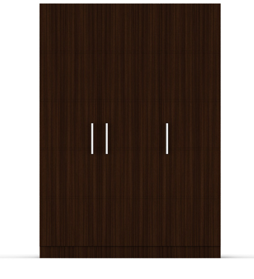 Three Door Wardrobe In Brazilian Walnut Finish Ply By Primorati