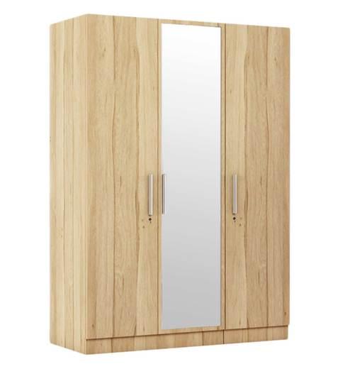 three door wardrobe in pure oak finish