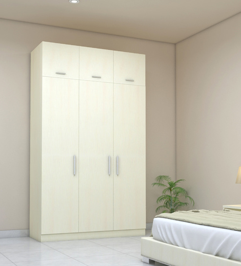 ... three-door-wardrobe-with-loft-in-ivory-suede- ... : three doors - pezcame.com