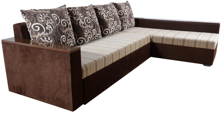 Rawat Five Seater L-Shaped Sofa (Muticolour)