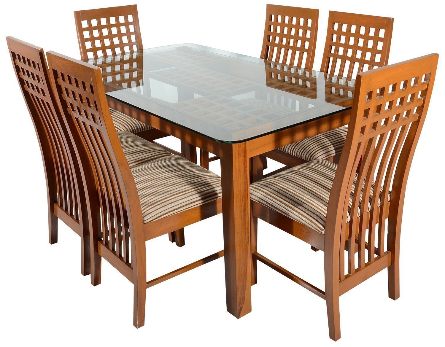 Rawat DTN28NDCN28N Six Seater Dining Table (Muticolour)