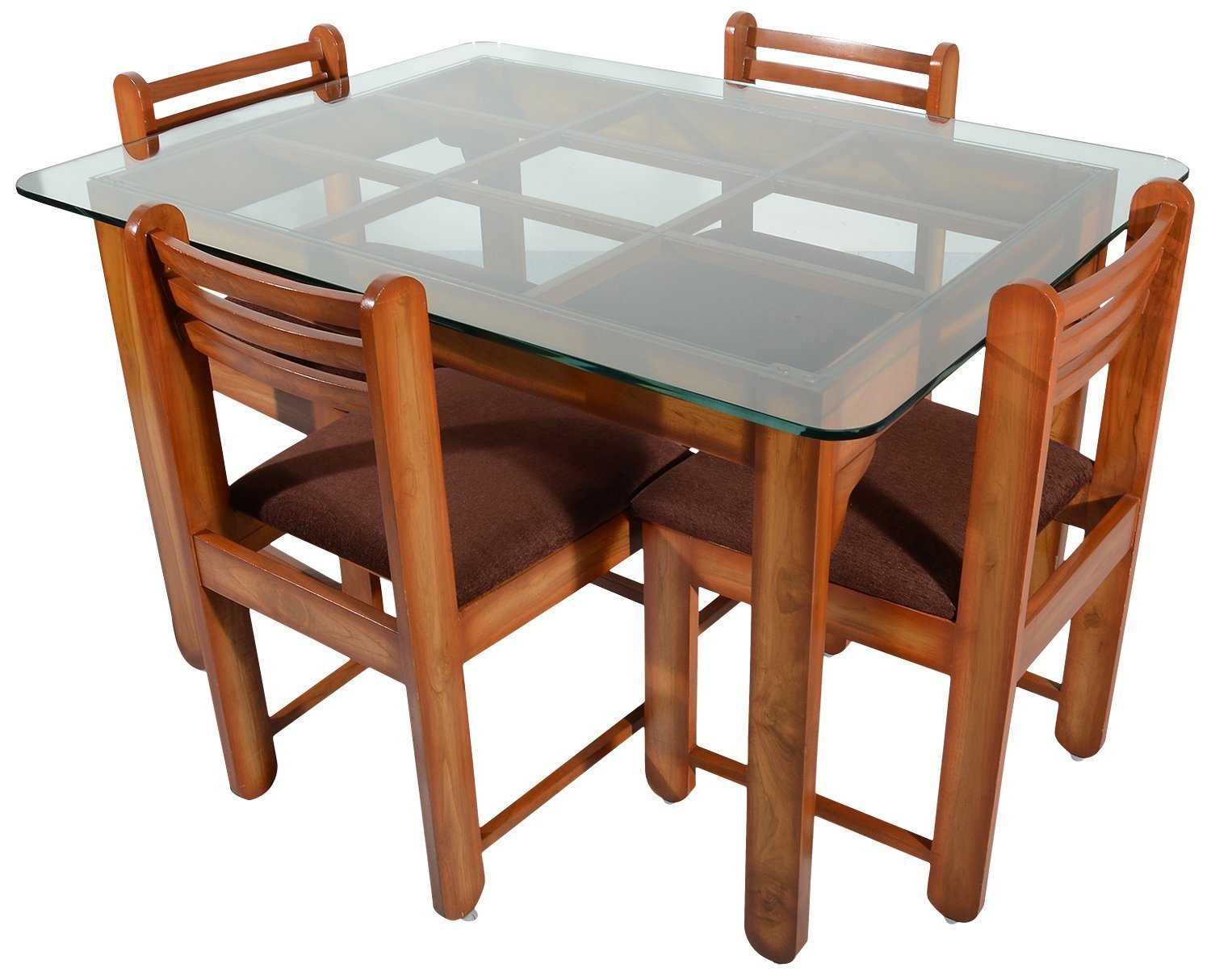 Rawat D14DC14 Four Seater Dining Table (Muticolour)