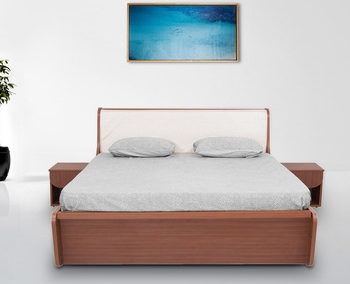 single, double, queen & king size bed makers near me | beds in pune Double Bed Side Table Designs