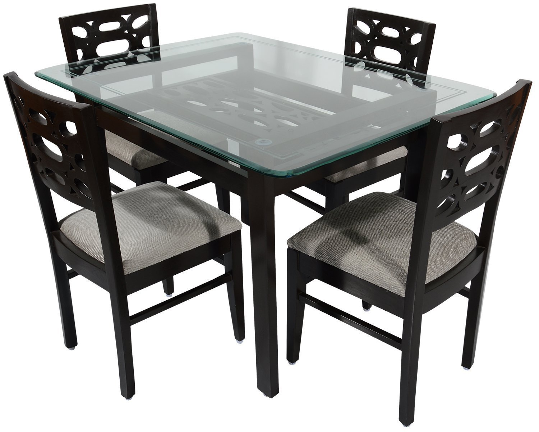 rawat romania four seater dining table (muticolour) | rawat furniture 4 Seater Dining Table